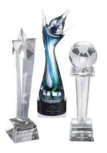 Награды из стекла художественного