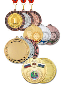 Медали универсальные наградные спорртивные Электросталь